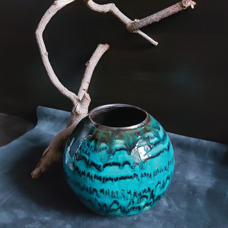 Vas ceramica pentru flori
